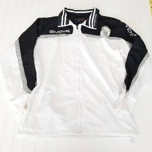 """34-36/"""" Givova S Blue//White Football Substitution Jacket Manager Subs Coat"""